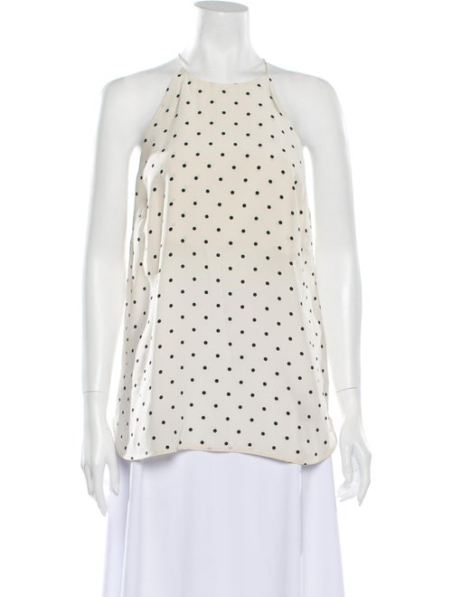 Zimmermann Silk Polka Dot Print Top