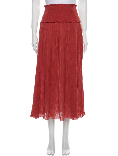 Zimmermann Pleated Accents Midi Length Skirt Red