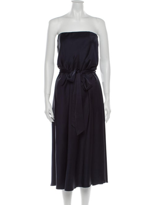 Zimmermann Strapless Midi Length Dress Blue