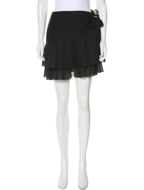 Zimmermann Pleated Accents Mini Skirt w/ Tags Blac