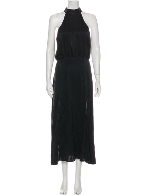 Zimmermann Silk Long Dress Black