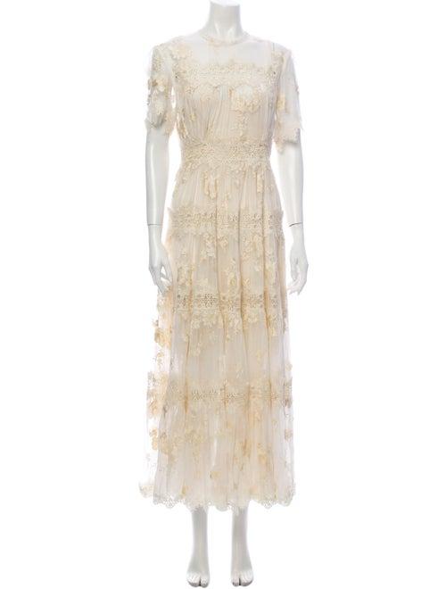 Zimmermann Lace Pattern Long Dress White