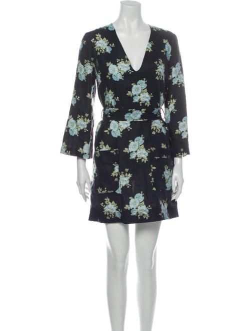Zimmermann Linen Mini Dress Blue