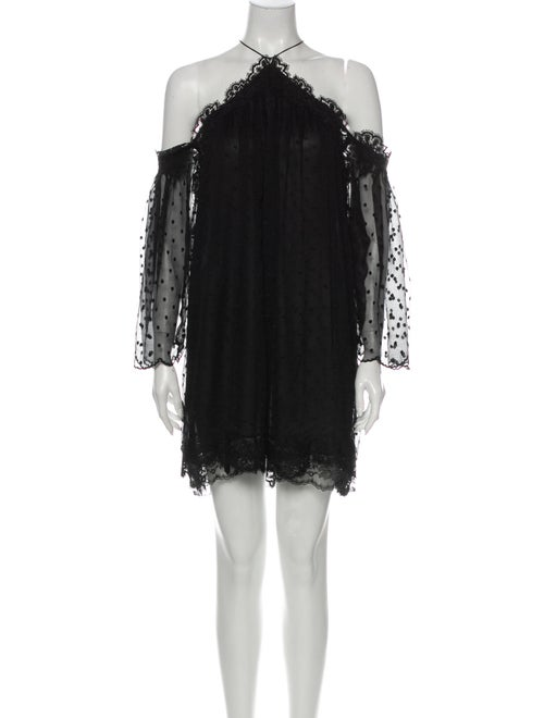 Zimmermann Silk Mini Dress Black - image 1