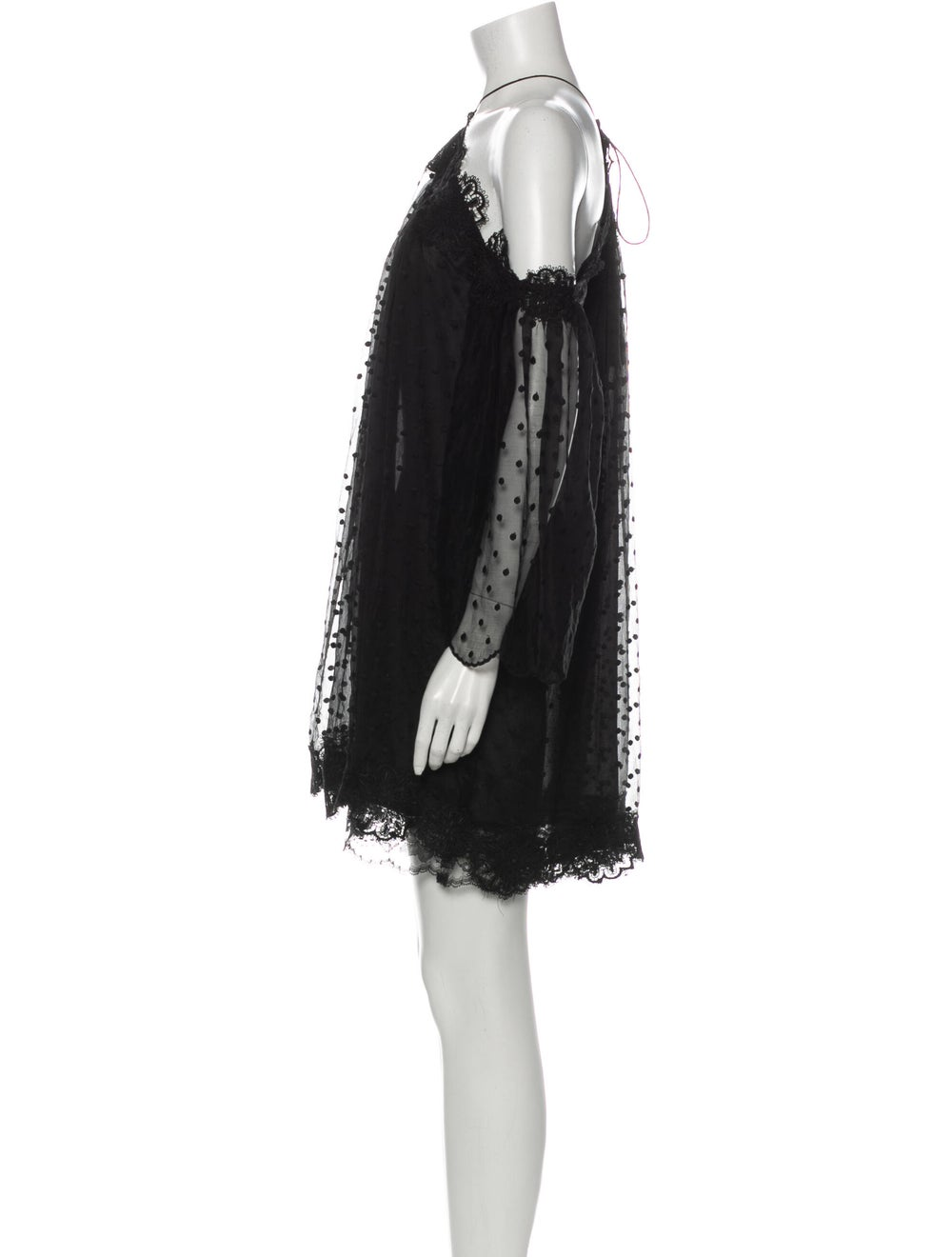Zimmermann Silk Mini Dress Black - image 2
