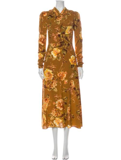 Zimmermann Silk Long Dress Yellow