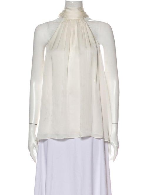 Zimmermann Silk Halterneck Blouse White