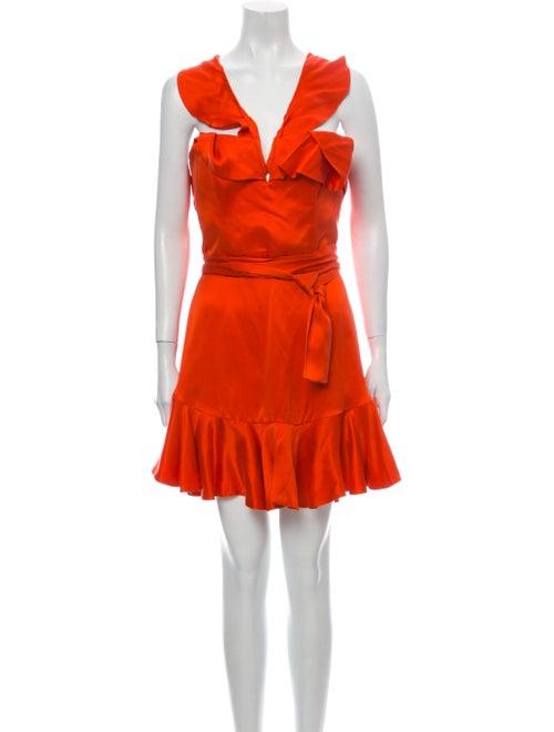 Zimmermann Silk Mini Dress Orange