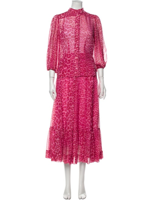 Zimmermann Lace Pattern Pleated Accents Skirt Set