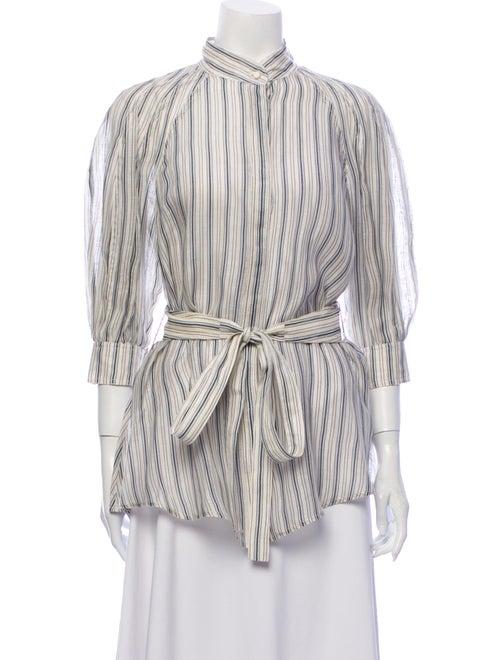 Zimmermann Linen Striped Blouse