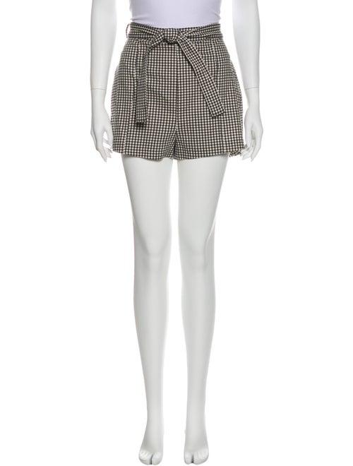 Zimmermann Plaid Print Mini Shorts Black