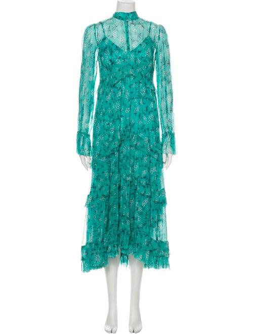Zimmermann Silk Long Dress Green