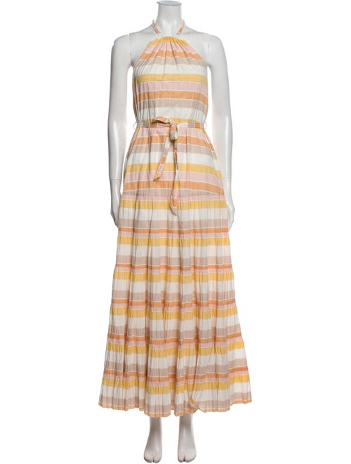 Zimmermann Striped Long Dress Yellow