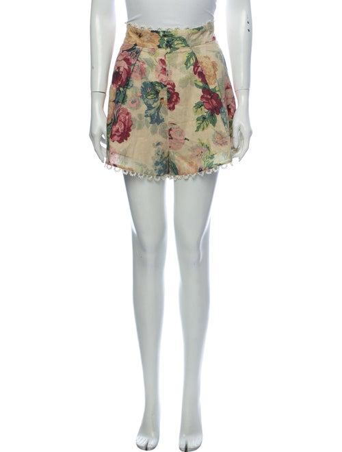 Zimmermann Floral Print Mini Shorts