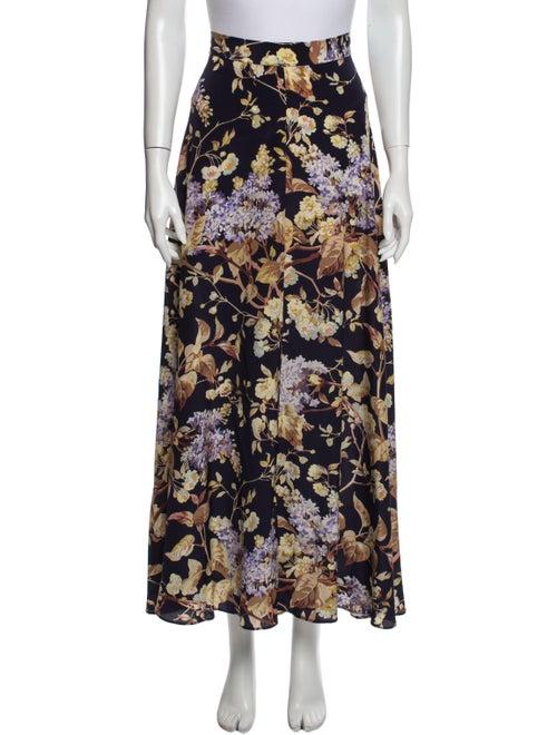 Zimmermann Silk Long Skirt Purple - image 1