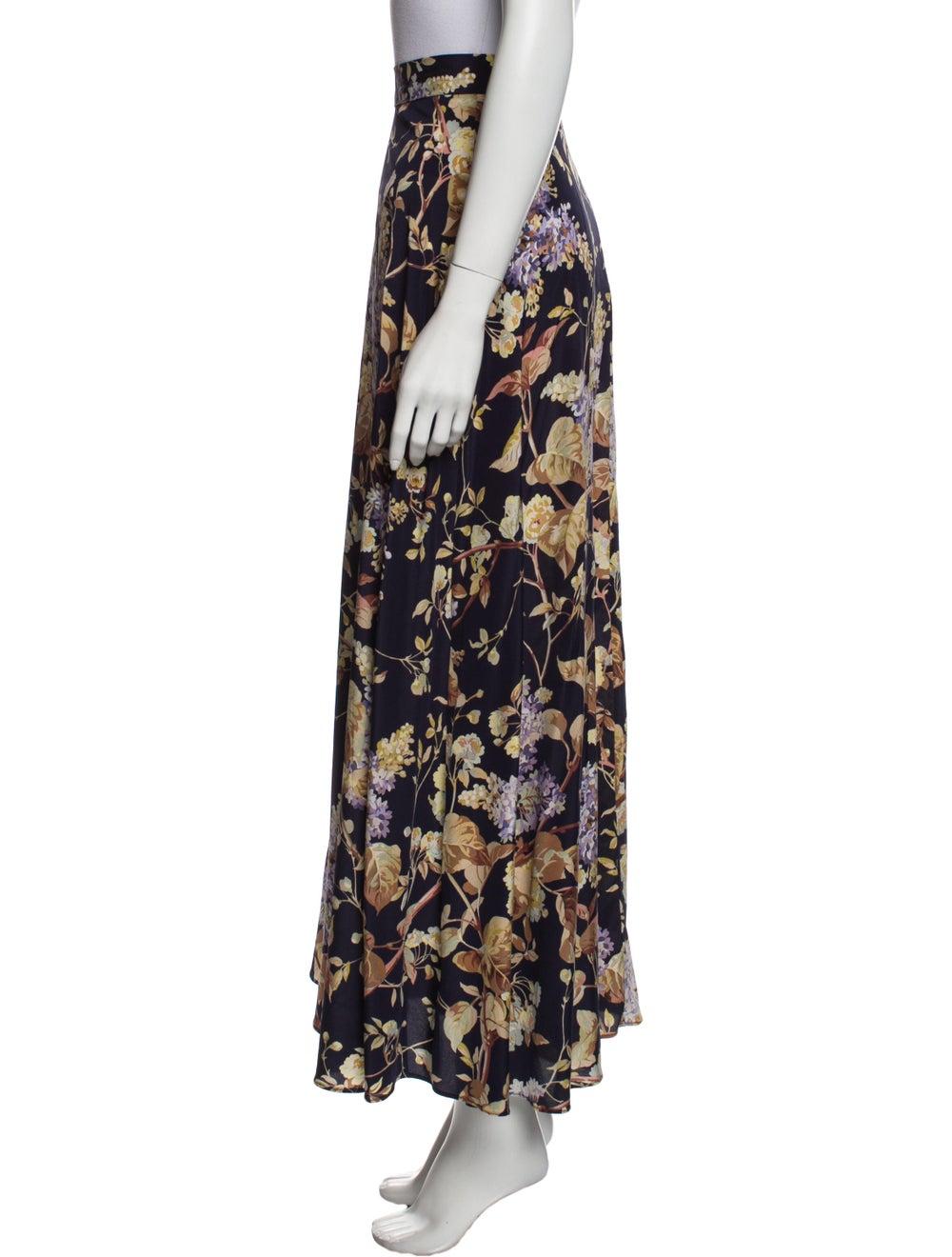 Zimmermann Silk Long Skirt Purple - image 2