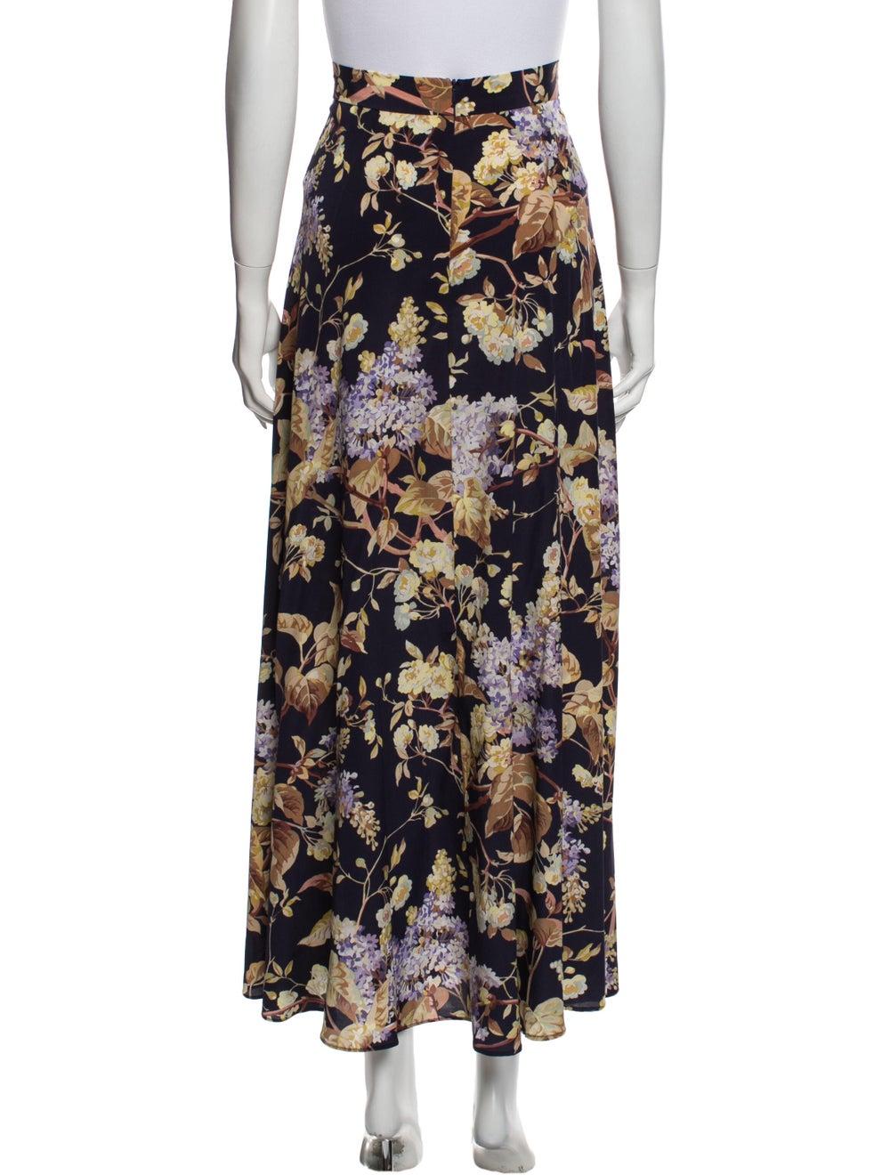 Zimmermann Silk Long Skirt Purple - image 3