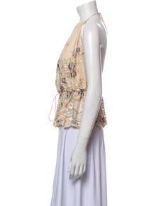 Zimmermann Silk Floral Print Top