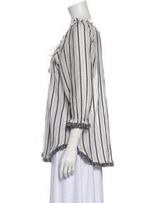 Zimmermann Striped Tie Neck Blouse