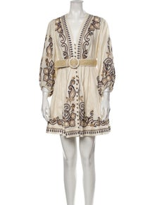 Zimmermann Aliane Embroidered Linen Mini Dress
