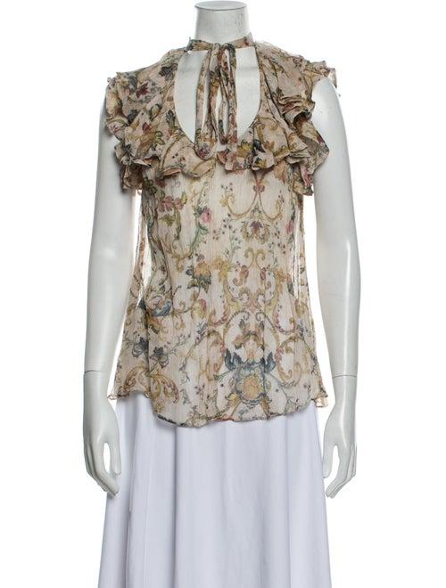 Zimmermann Silk Floral Print Blouse