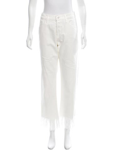 3x1  Straight-Leg Fringe Jeans w/ Tags