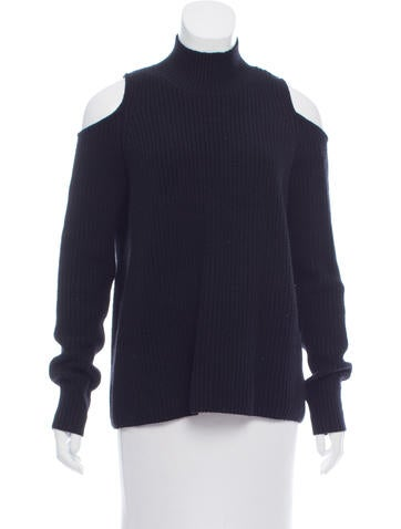 Zoë Jordan Rib Knit Cold-Shoulder Sweater None