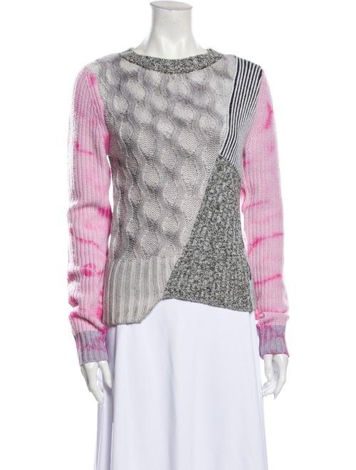 Zoë Jordan Wool Tie-Dye Print Sweater Wool