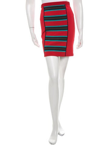 Z Spoke by Zac Posen Knit Mini Skirt None