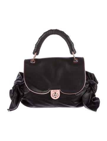Z Spoke by Zac Posen Leather Bow Top Handle Bag
