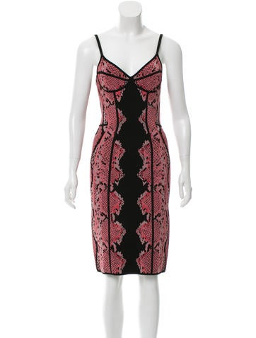 Z Spoke by Zac Posen SNakeskin Pattern BodyCon Dress None