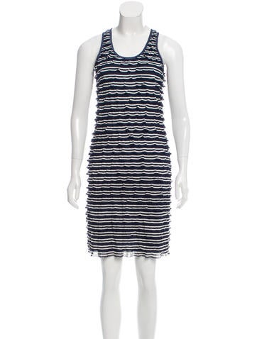 Z Spoke by Zac Posen Striped Tiered Dress w/ Tags None