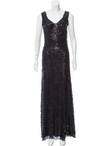 Z Spoke by Zac Posen Sequined Sleeveless Dress None