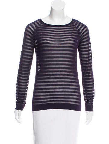 Z Spoke by Zac Posen Striped Knit Sweater None