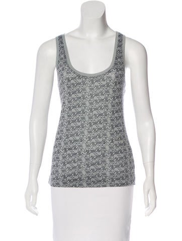 Z Spoke by Zac Posen Printed Sleeveless Top None