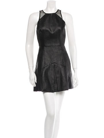 Alex Perry Metallic Mini Dress None