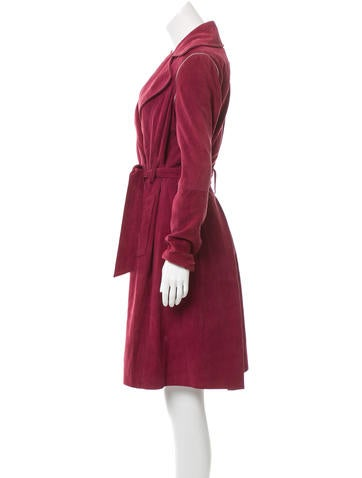 Suede Trench Coat w/ Tags