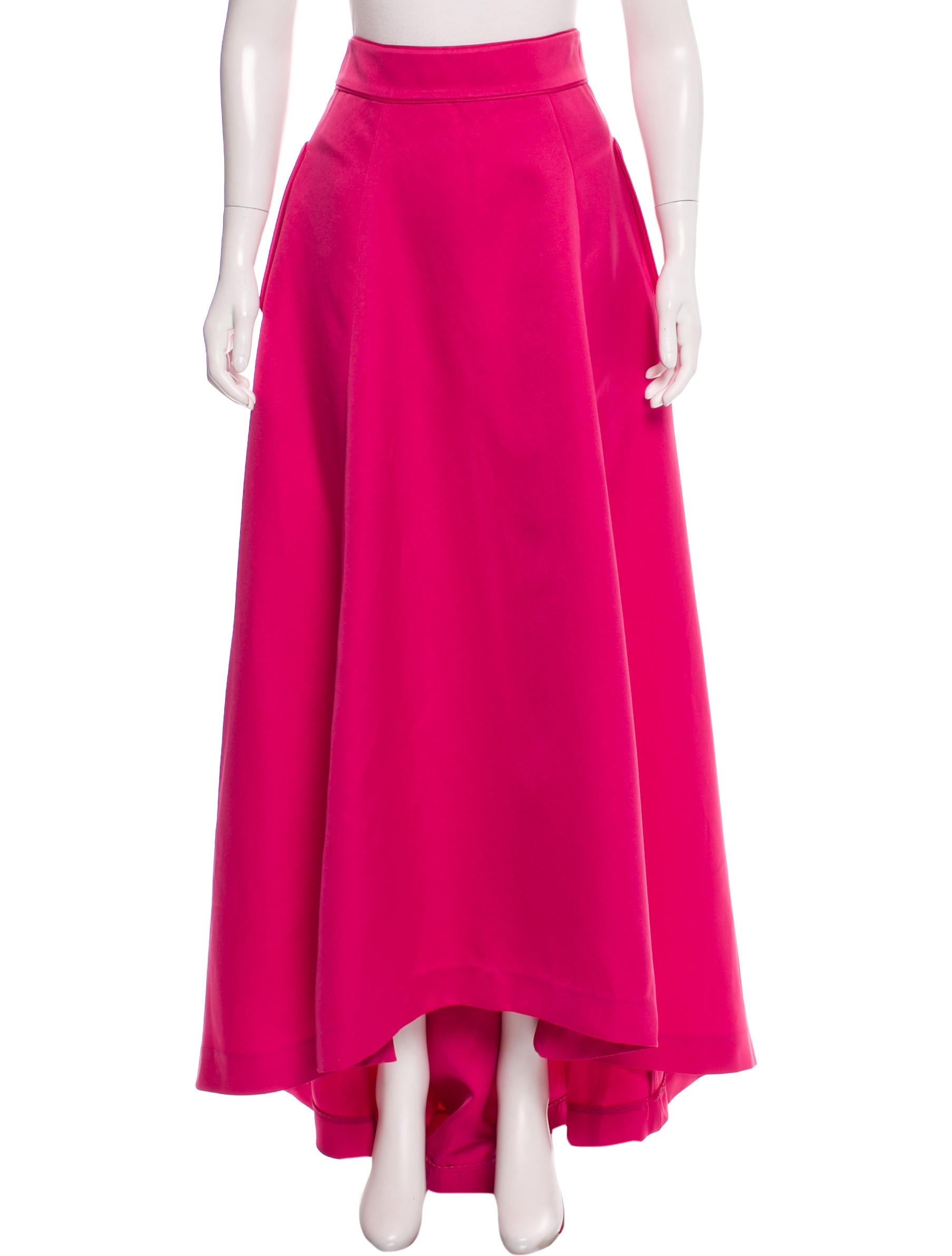 zac zac posen high low maxi skirt clothing wzv20587