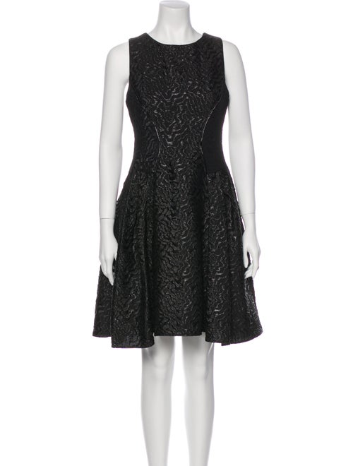 ZAC Zac Posen Printed Knee-Length Dress Black