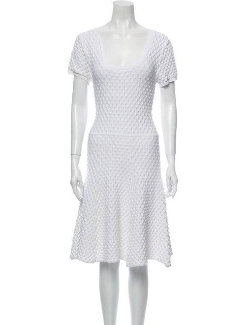 ZAC Zac Posen Scoop Neck Knee-Length Dress