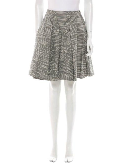 ZAC Zac Posen Striped Knee-Length Skirt Grey
