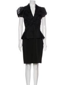ZAC Zac Posen V-Neck Knee-Length Dress