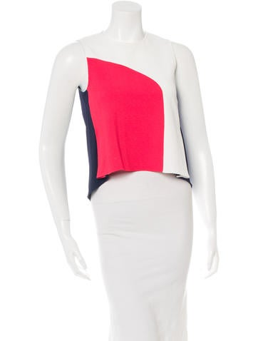 Tanya Taylor Colorblock High-Low Top