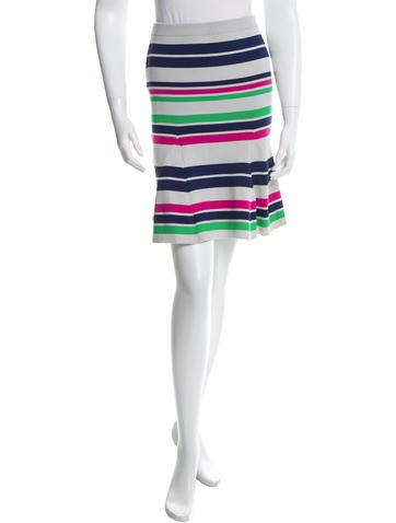 Tanya Taylor Striped Rib Knit Skirt w/ Tags None