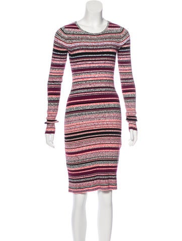 Tanya Taylor Rib Knit Sweater Dress None