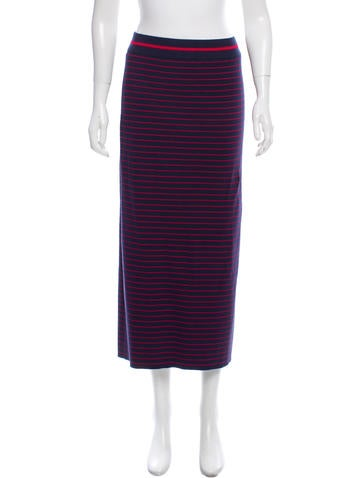 Tanya Taylor Striped Rib Knit Skirt None