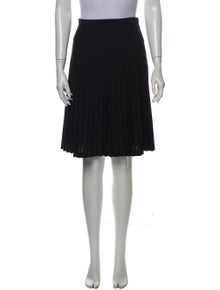 Philippe Adec Pleated Accents Knee-Length Skirt