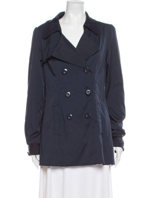 Vertigo Trench Coat Blue