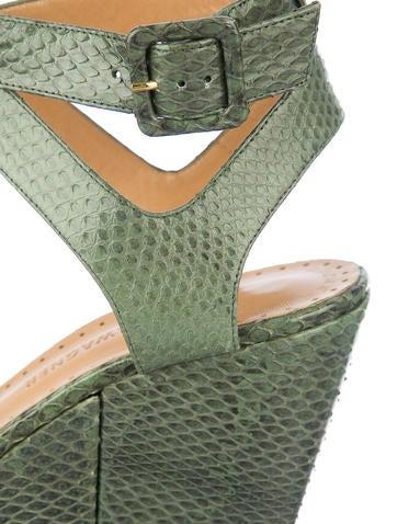 Snakeskin Wedges