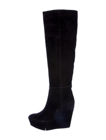 Knee-High Wedge Boots w/ Tags